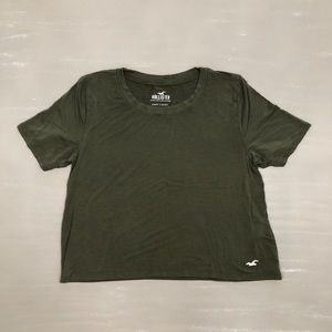 Hunter Green Super Soft Crop Top
